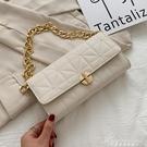 網紅小包包女2021春夏新款潮洋氣百搭菱格錬條包高級感側背腋下包 黛尼時尚精品