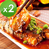 三低素食年菜 樂活e棧 年年有餘-珍饌糖醋魚2盒(400g/盒)-全素