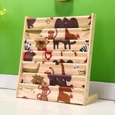 兒童書架卡通實木書櫃簡易幼兒園小孩書架寶寶置物架小學生繪本架