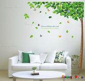 壁貼【橘果設計】綠樹 DIY組合壁貼/牆貼/壁紙/客廳臥室浴室幼稚園室內設計裝潢
