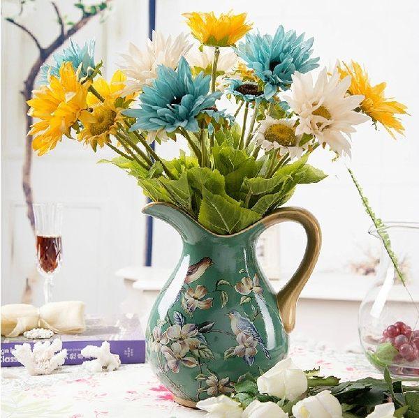 模擬花假花 套裝 花藝 客廳餐桌 裝飾花 花瓶花束 -bri0206100166