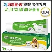 *KING WANG*台灣 發育寶Care系列《犬用益腸樂 營養膏 CD4》120g