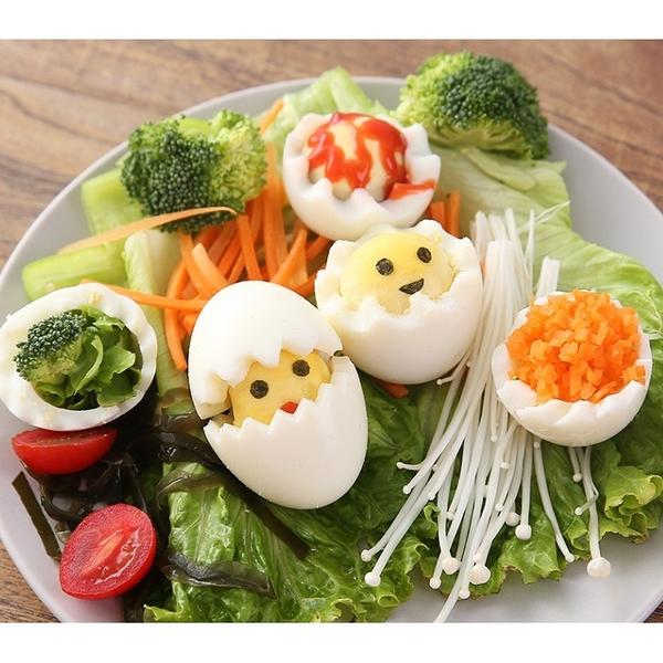 【培菓幸福寵物專營店】花式切蛋器廚房創意一切二花邊雞蛋分割刻棒蛋黃小雞沙拉製作神器
