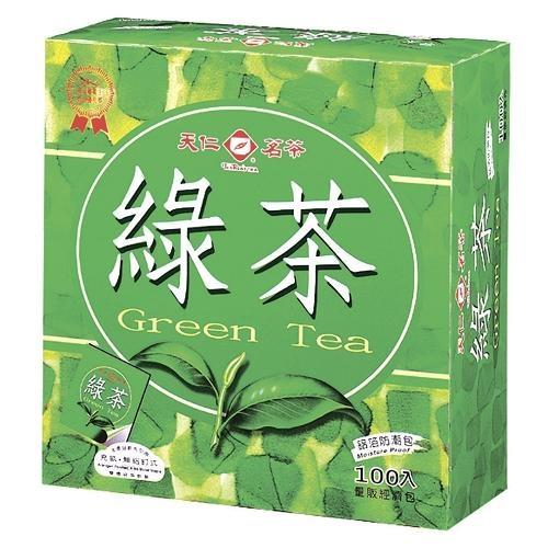 天仁袋茶防潮包-綠茶2G x100入【愛買】