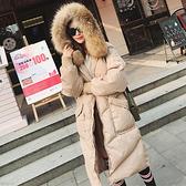 連帽外套-長版大毛領大口袋寬鬆舖棉女夾克2色73wd47[巴黎精品]