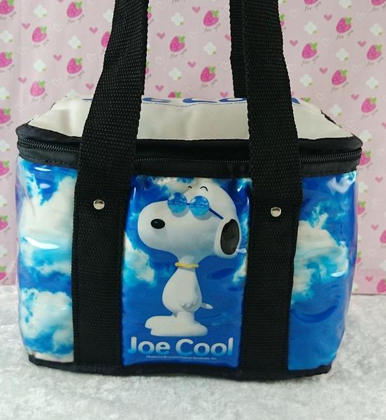 【震撼精品百貨】史奴比Peanuts Snoopy ~保冷便當提帶_白藍天空