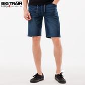 BigTrain吸排汗針織丹寧短褲-男-深藍-S-3L