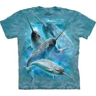 【摩達客】 (預購)(大尺碼3XL)美國進口【The Mountain】自然純棉系列 獨角鯨 T恤(10412045117ab)