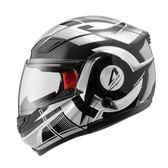 【東門城】ASTONE RT1100 GG20 (黑銀) 可掀式安全帽 雙鏡片