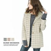 【KOMI】復古格紋西裝外套‧全裡 (1824-010513)