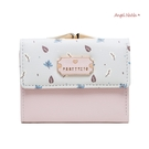 短夾-優雅俏皮可愛印花撞色短皮夾錢包零錢包三摺 AngelNaNa (SMA0305)