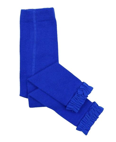【美國 RuffleButts】荷葉邊內搭褲-寶石藍款 RLKSAXX-0000