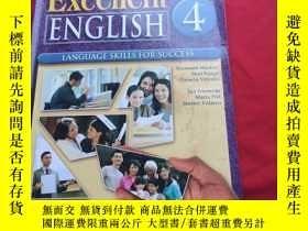 二手書博民逛書店Excellent罕見ENGLISH 4 LANGUAGE SKILLS FOR SUCCESS【附光盤】Y1