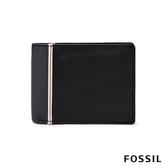 FOSSIL ELGIN 含零錢匣雙色造型男夾-黑藍色 ML4182001