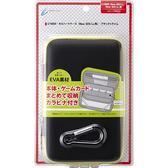 NEW2DSLL/3DSLL用日本Cyber 輕量化EVA 主機硬殼包 可裝主機殼可收納卡帶 黑X青檸【玩樂小熊】
