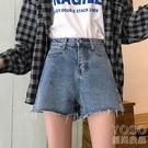 牛仔短褲 年夏季新款韓版高腰顯瘦牛仔褲女短褲寬松直筒闊腿褲熱褲潮 快速出貨