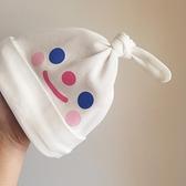 新生嬰兒純棉可愛胎帽初生兒卡通啾啾帽護鹵門女寶寶0-3個月春秋 幸福第一站
