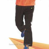 日本名牌 KAWASAKI 男女平織網裡運動長褲-黑#K216B