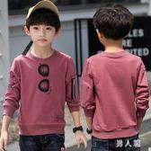 男童上衣長袖t恤新款秋季小衫兒童薄款上衣8歲韓版打底衫 zm7947『男人範』