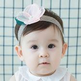 優雅圓花朵造型髮帶 兒童髮飾 髮帶