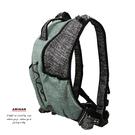 防割背心式背包-綠黑色 AMINAH~【Anti-Cut-01】