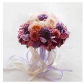 結婚用品仿真韓式婚禮新娘花束LYH3333【大尺碼女王】