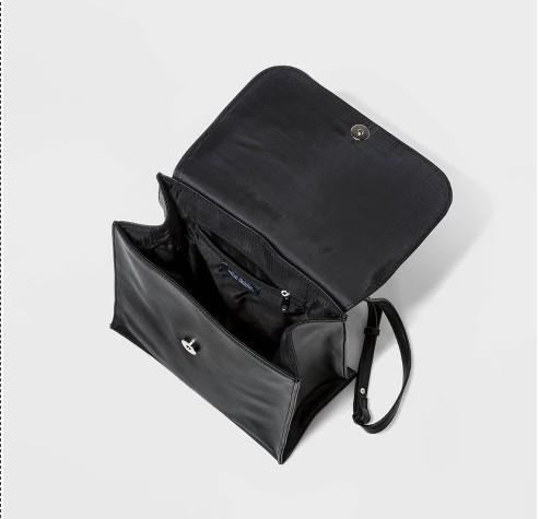 新款女包雙肩包黑色定型外貿出口原單女包後背拉鏈袋美單背包『快速出貨』