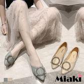 娃娃鞋.小香鑽飾低跟平底鞋