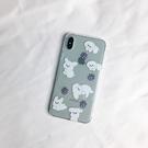 蘋果iphone11pro手機殼xr/xsmax/7/8plus可愛ins風6s小毛絨狗