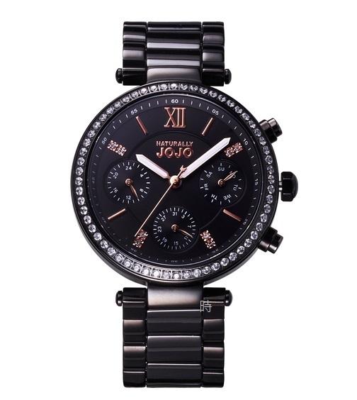 NATURALLY JOJO 奢華 JO96973-88R 三眼晶鑽 女錶