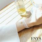 白色蕾絲綴珍珠手鍊 Enya恩雅(正韓飾品)【BRAW7】