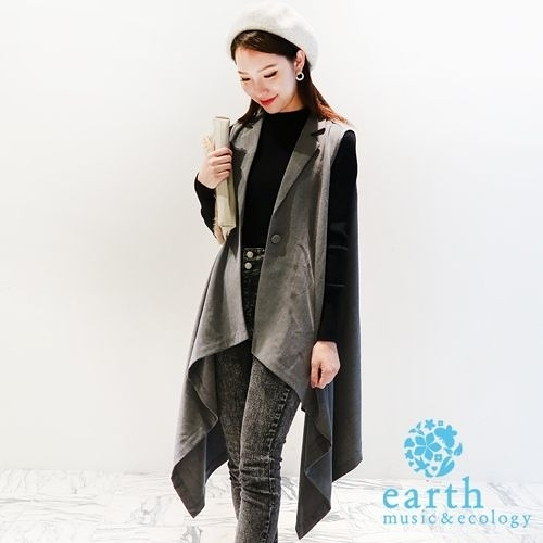 「Hot item」設計感背心外套 - earth music&ecology