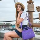 BESIDE-U BFYT 防盜刷百搭多隔層手提斜背包兩用包-薰衣草紫 原廠公司貨