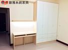 【歐雅 系統家具 】衣櫃結合兩抽書桌...