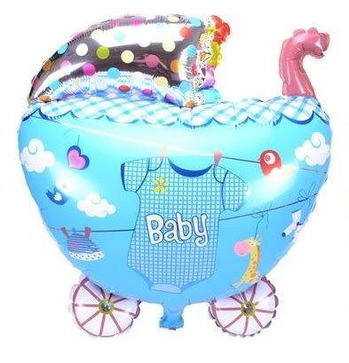 男衣-嬰兒車鋁箔球/個(未充氣)~~求婚道具/婚禮 生日 耶誕節 尾牙佈置