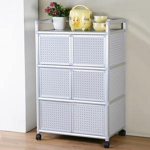 Homelike 鋁合金2.5尺六門收納櫃