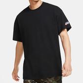 Nike SB 男裝 短袖 純棉 寬版 針織 柔軟 刺繡 滑板 基本款 百搭 黑【運動世界】CW6946-010