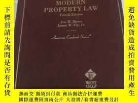 二手書博民逛書店CASES罕見AND MATERIALS ON MODERN PROPERTY LAW Fourth Editio