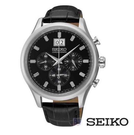 SEIKO 精工男錶 三眼計時 spc083p2 7T04-0AE0C 免運/42mm