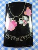 【震撼精品百貨】Hello Kitty 凱蒂貓~貼紙-黑蝴蝶項鍊
