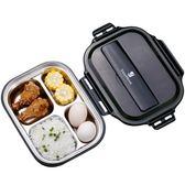 304不銹鋼分格保溫飯盒日式便當盒2單層雙層分隔學生成人兒童餐盒【全館滿一元八五折】
