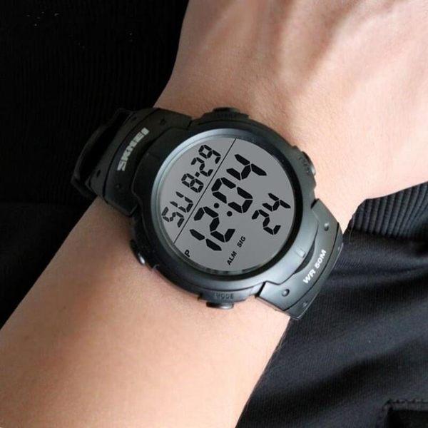 戶外錶 時尚戶外防水運動男士電子表夜光多功能學生腕表男數字式老人手錶 非凡小鋪