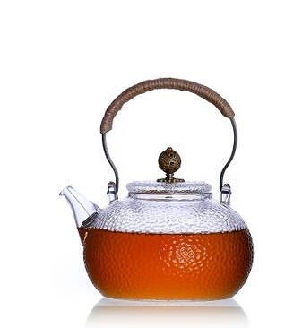 錘紋耐高溫提梁玻璃壺電陶爐燒水煮茶壺直火加熱燒水壺泡茶水茶具