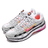 【六折特賣】Nike Wmns P-6000 復古慢跑鞋 銀 橘 桃紅 女鞋 運動鞋 【ACS】 BV1021-100