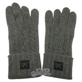 【Louis Vuitton 路易威登】M70163 TORSADE系列羊毛針織手套(灰色)