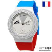 ATOP 世界時區腕錶|24時區國旗系列 - VWA-France 法國