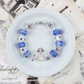 串珠手鍊 925純銀-琉璃飾品氣質高雅生日聖誕節禮物女配件73bm21[時尚巴黎]