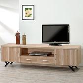 Homelike 路西6尺電視櫃-原木色-免組裝