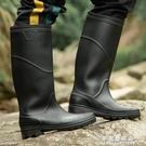 雨鞋 雨鞋高筒男士雨靴時尚男釣魚成人男款高防水中筒套鞋勞保膠鞋水鞋【果果新品】