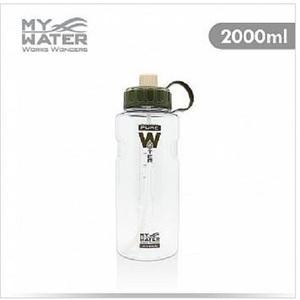 MY WATER 水多多大容量水壺2000ml 棕色